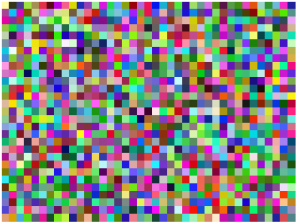 A grid of World Blocks of a random world, with each block a random color. This planet is slightly smaller than average at 39x29 blocks.