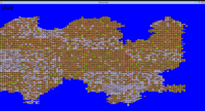 Example of a region's terrain map